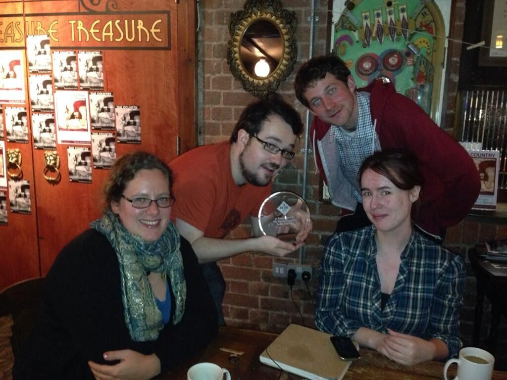 "WBN with the Bike Shed's ""Most Welcoming Theatre 2013"" Award."